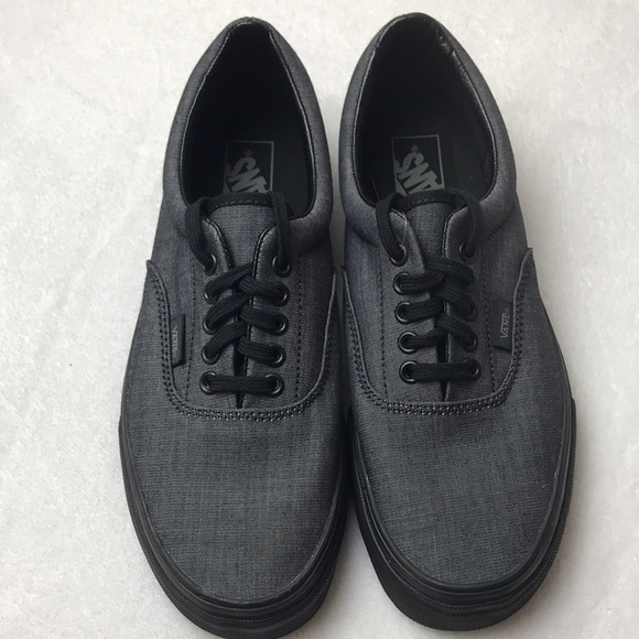 9b7d59ed5f Vans Era Mono Chambray Black unisex shoes
